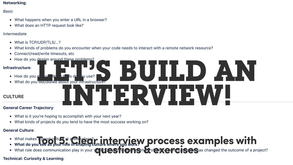 LET'S BUILD AN INTERVIEW! Tool 5: Clear intervi...