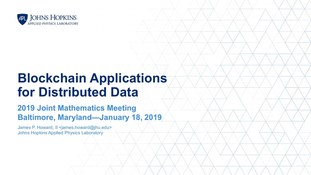 Blockchain Applications for Distributed Data 20...