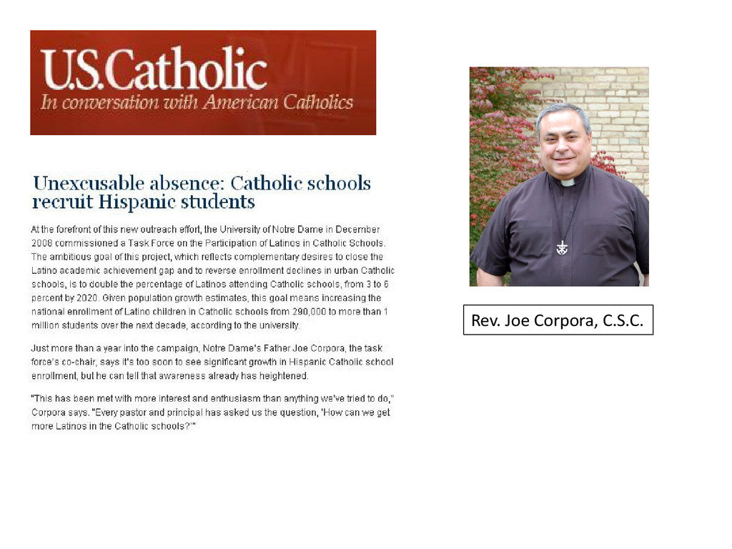 Rev. Joe Corpora, C.S.C.