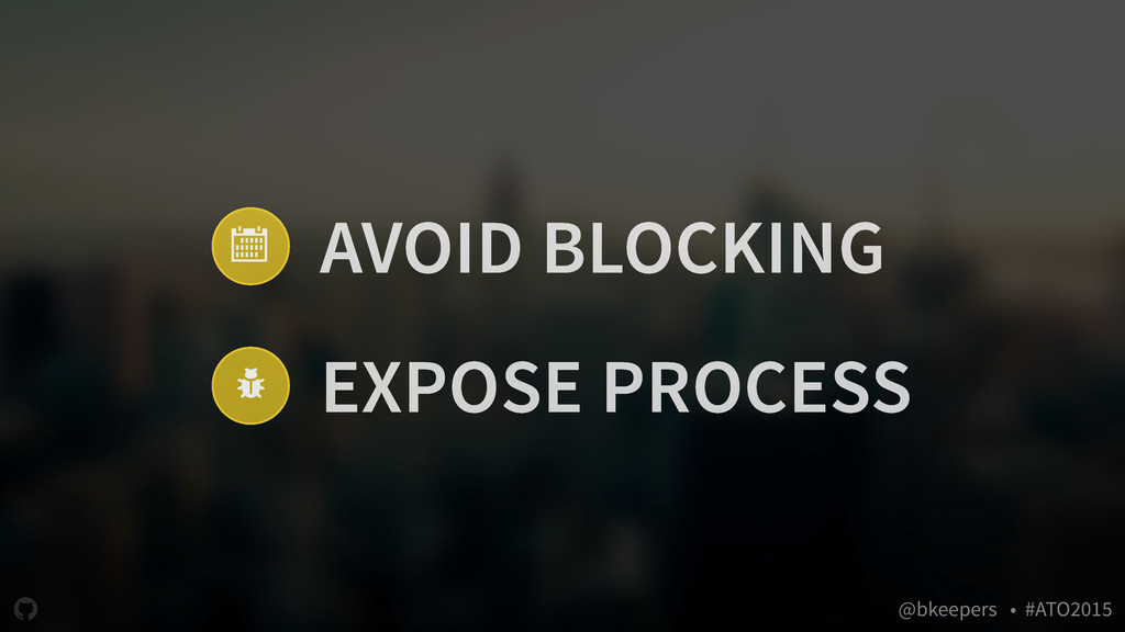 """ @bkeepers • #ATO2015 / 0 AVOID BLOCKING EXPOS..."