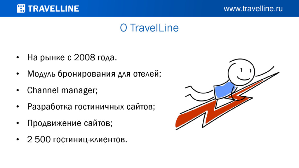 О TravelLine • На рынке с 2008 года. • Модуль б...