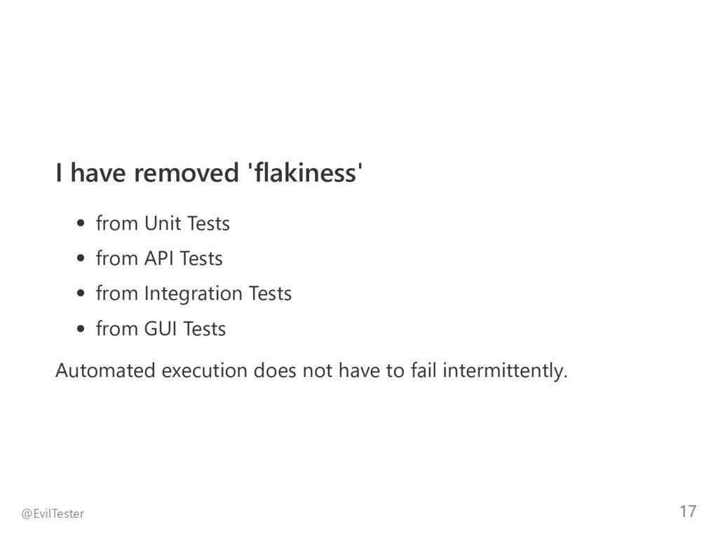 I have removed 'flakiness' from Unit Tests from...