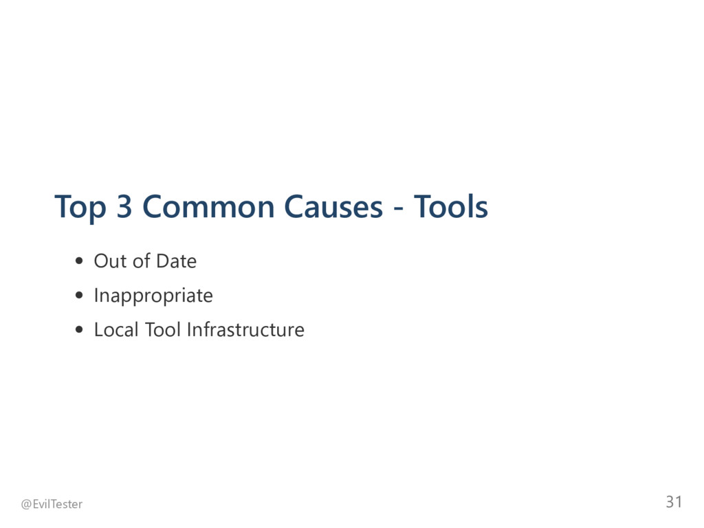 Top 3 Common Causes ‐ Tools Out of Date Inappro...