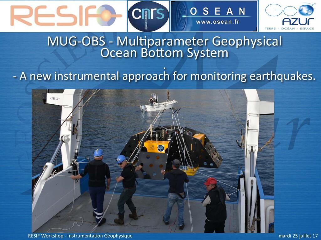 MUG-OBS - Mul+parameter Geophysical Ocean Bo9om...