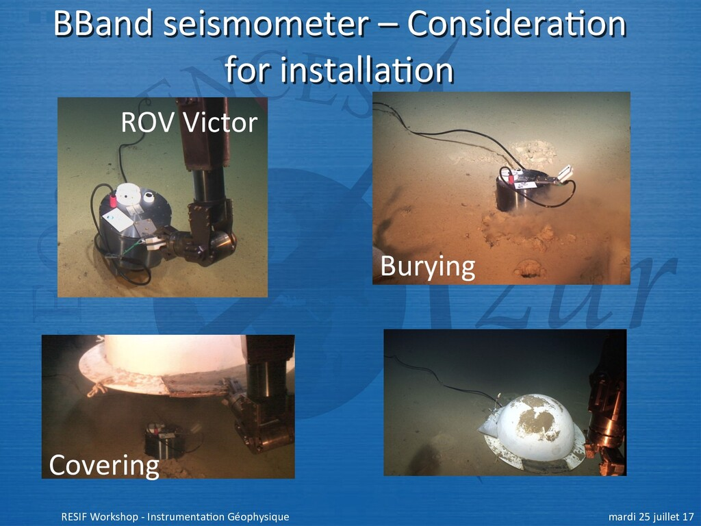 BBand seismometer – Considera+on for installa+o...