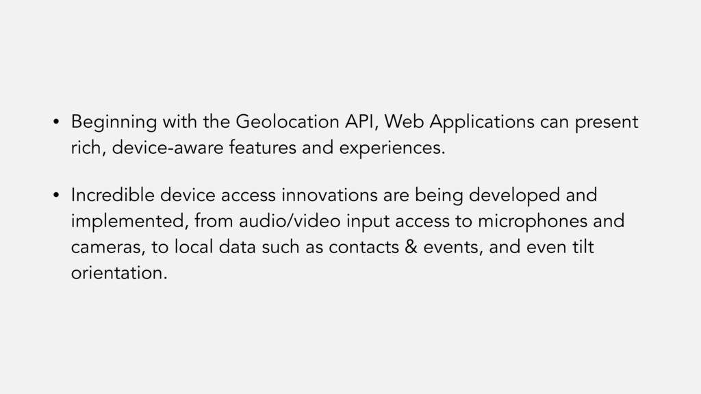 • Beginning with the Geolocation API, Web Appli...