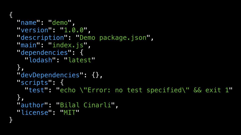"{ ""name"": ""demo"", ""version"": ""1.0.0"", ""descript..."