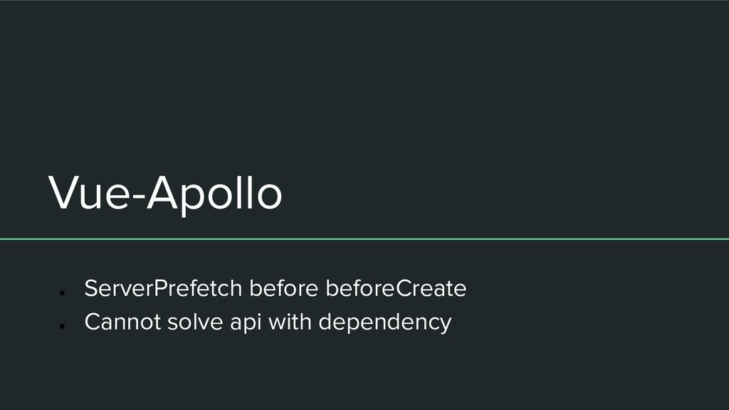Vue-Apollo ● ServerPrefetch before beforeCreate...