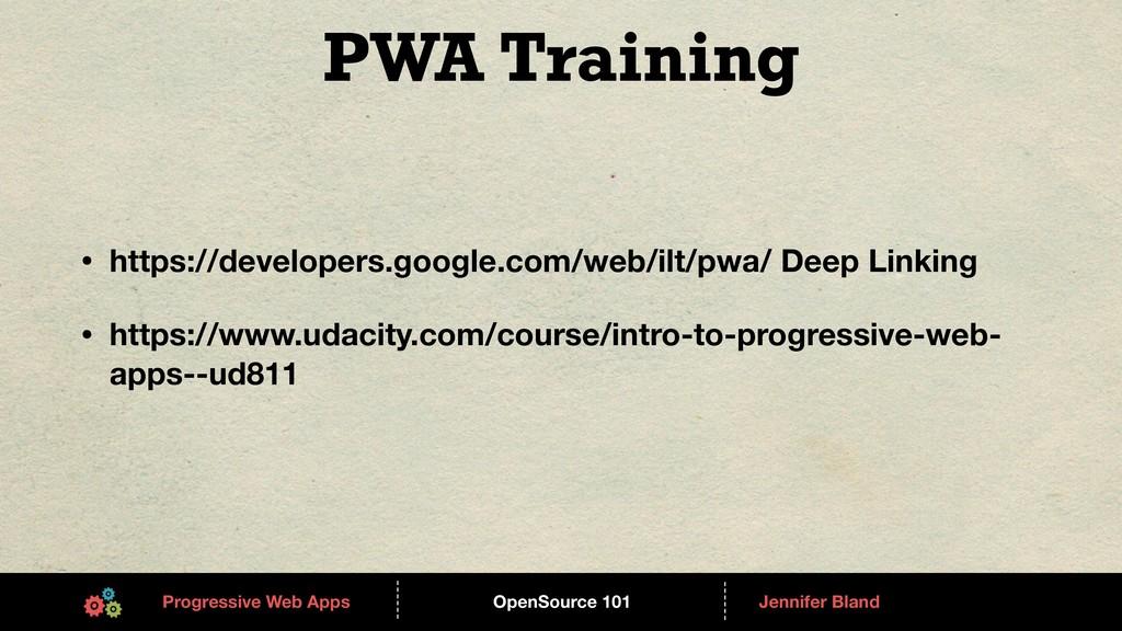 OpenSource 101 ------ Progressive Web Apps ----...