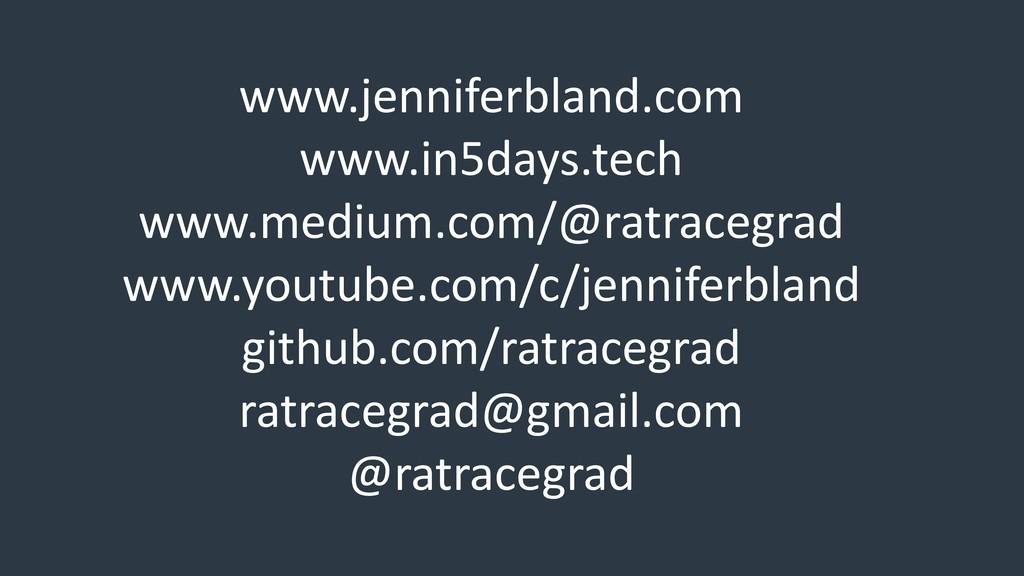 www.jenniferbland.com www.in5days.tech www.medi...