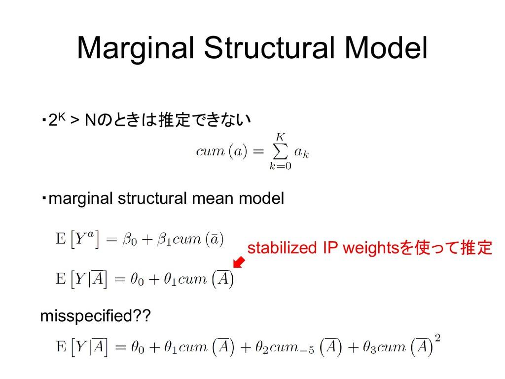 Marginal Structural Model ・2K > Nのときは推定できない ・ma...