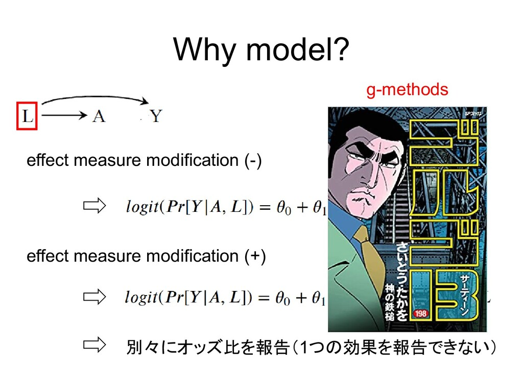 Why model? effect measure modification (-) effe...
