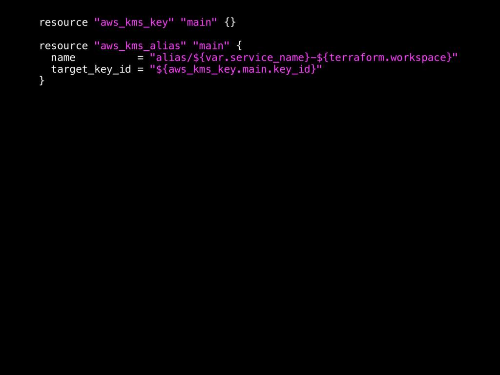 "resource ""aws_kms_key"" ""main"" {} resource ""aws_..."