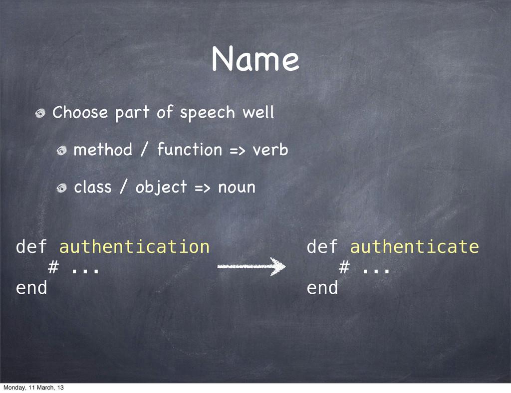 Name Choose part of speech well method / functi...