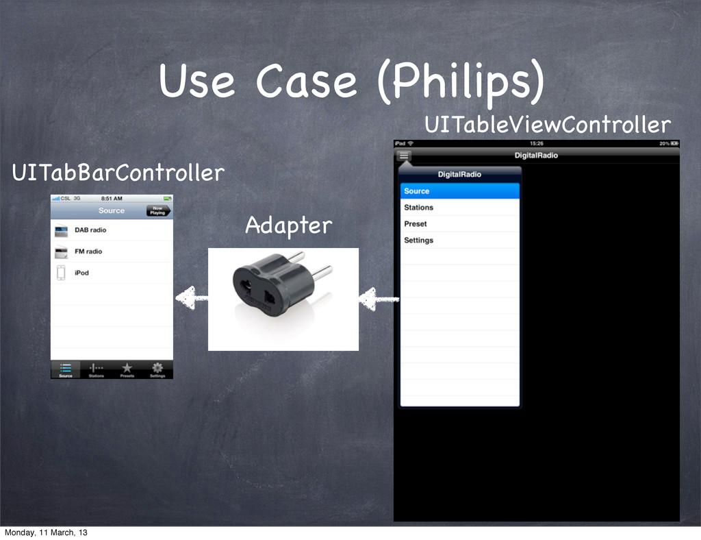 Use Case (Philips) UITabBarController Adapter U...