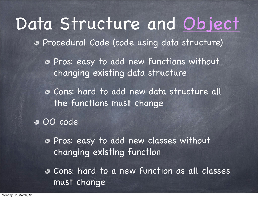Data Structure and Object Procedural Code (code...