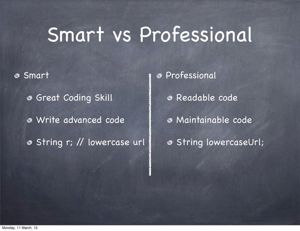 Smart vs Professional Smart Great Coding Skill ...