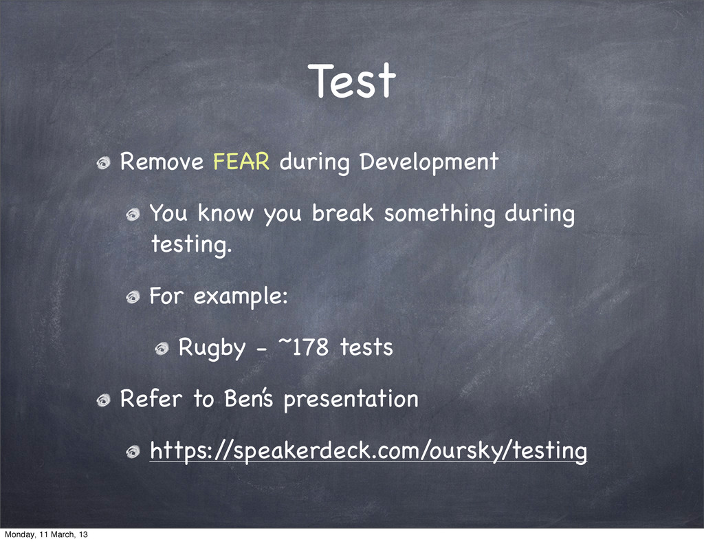 Test Remove FEAR during Development You know yo...