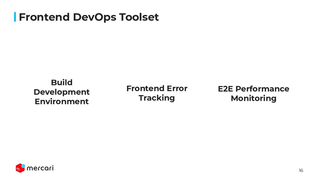 16 Frontend DevOps Toolset E2E Performance Moni...