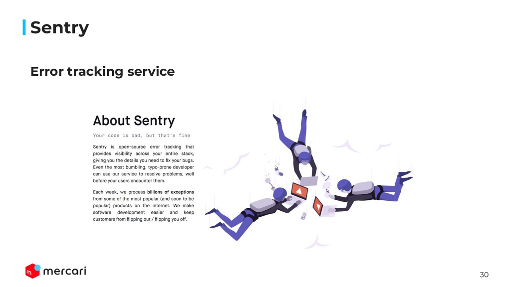 30 Sentry Error tracking service