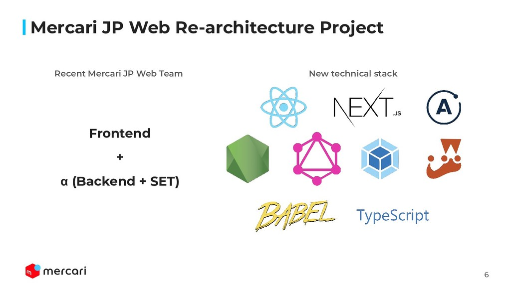 6 Mercari JP Web Re-architecture Project Fronte...