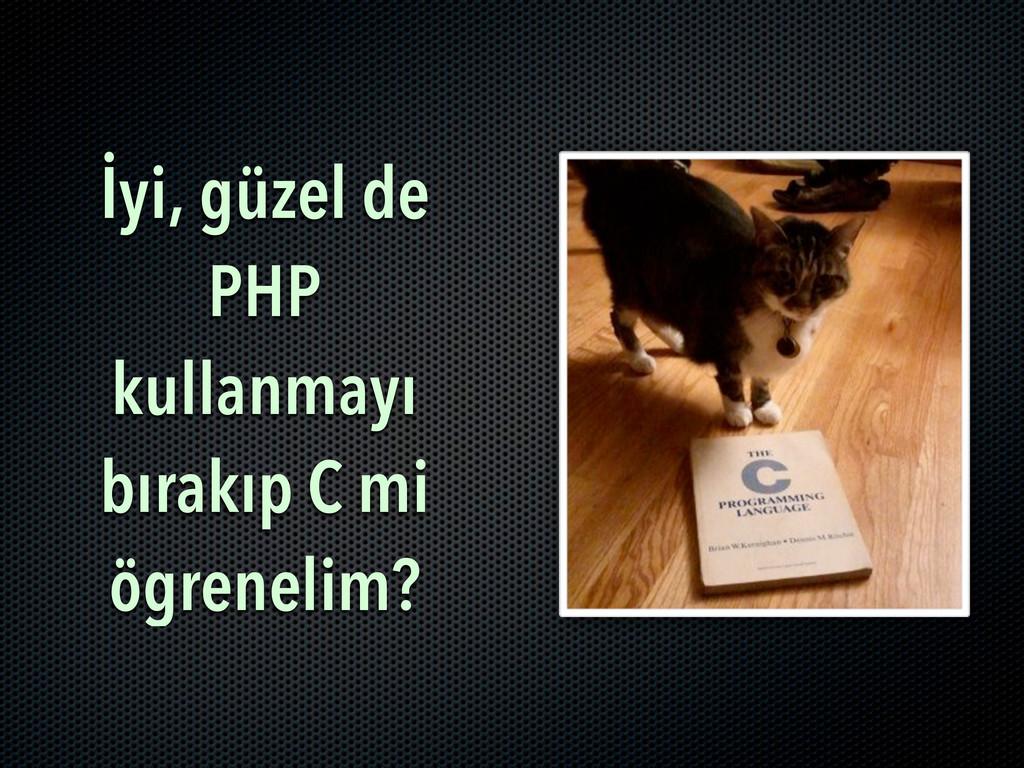 İyi, güzel de PHP kullanmayı bırakıp C mi ögren...