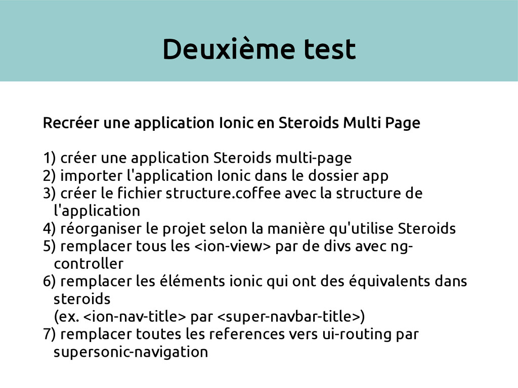 Deuxième test Recréer une application Ionic en ...