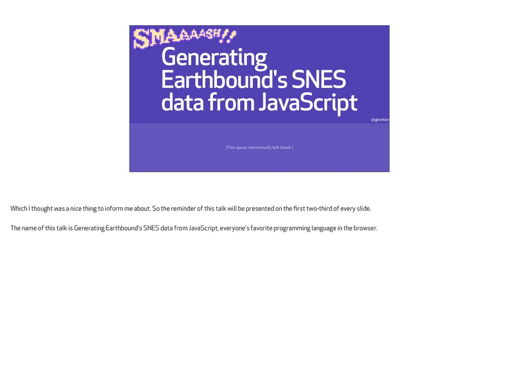 Generating Earthbound's SNES data from JavaScri...