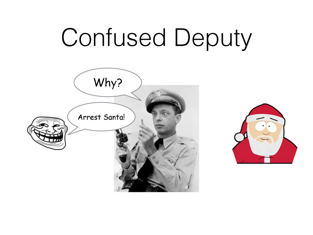 Confused Deputy Arrest Santa! Why?