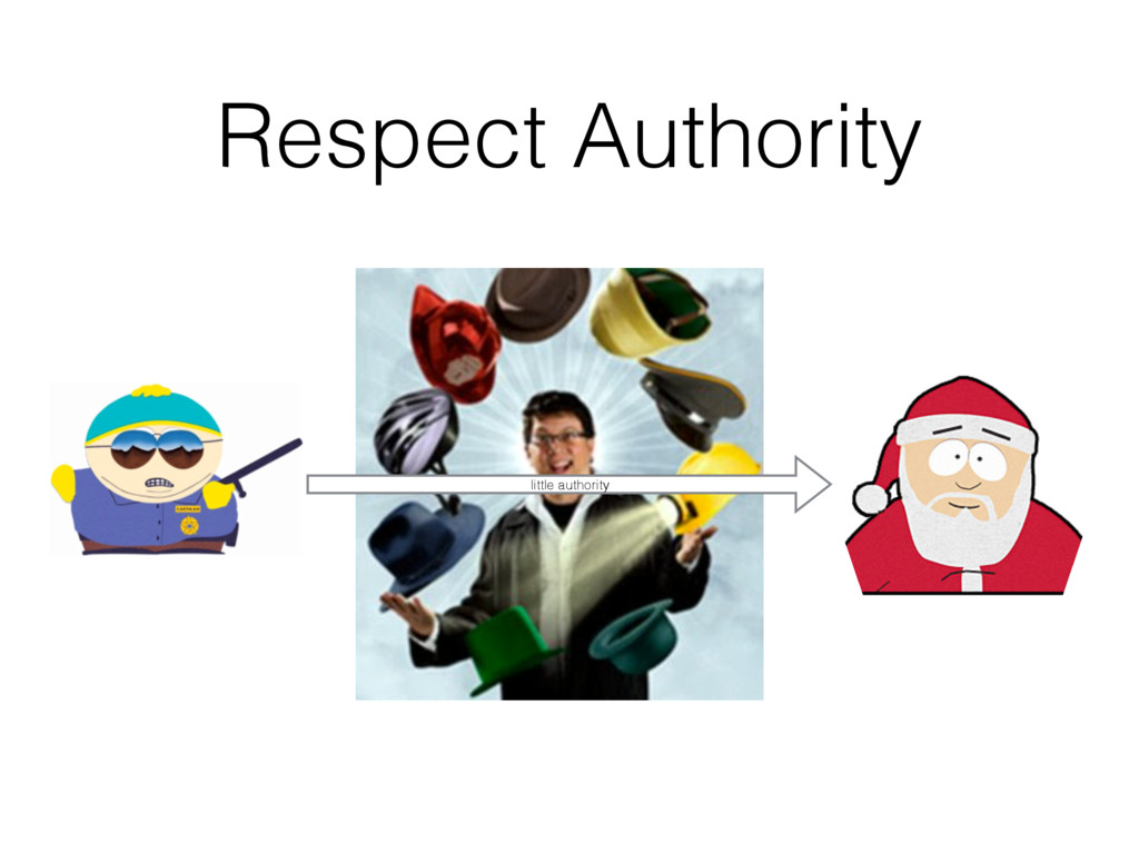 Respect Authority little authority