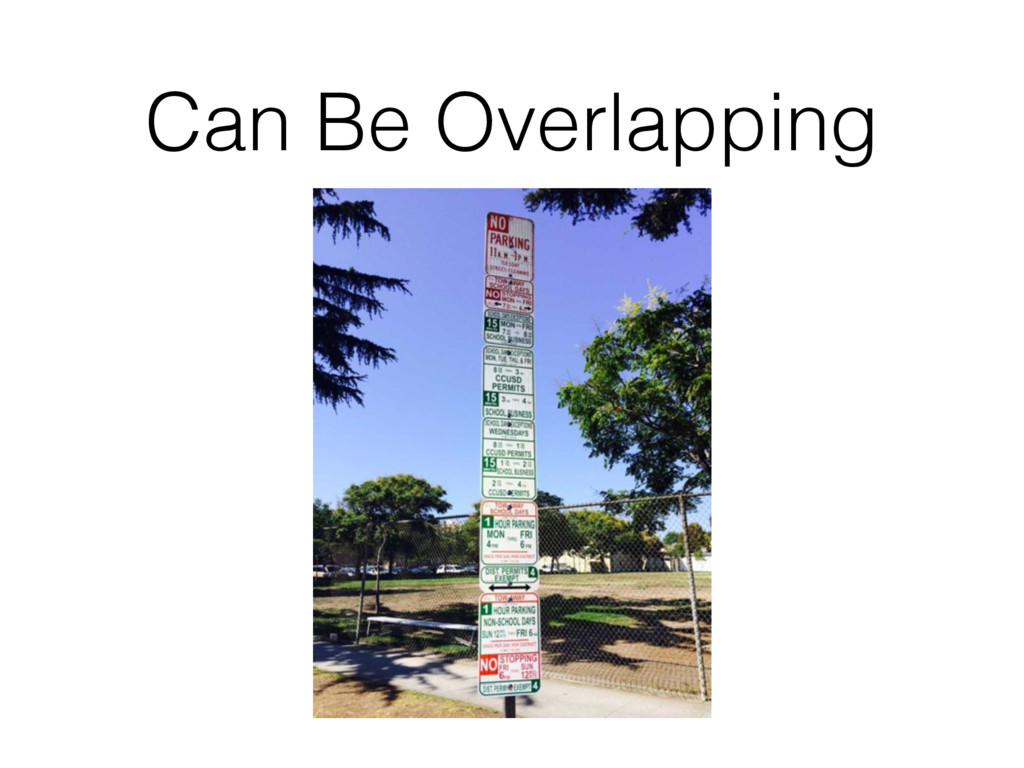 Can Be Overlapping