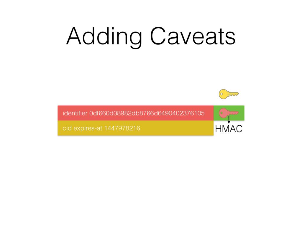 Adding Caveats HMAC identifier 0df660d08982db876...