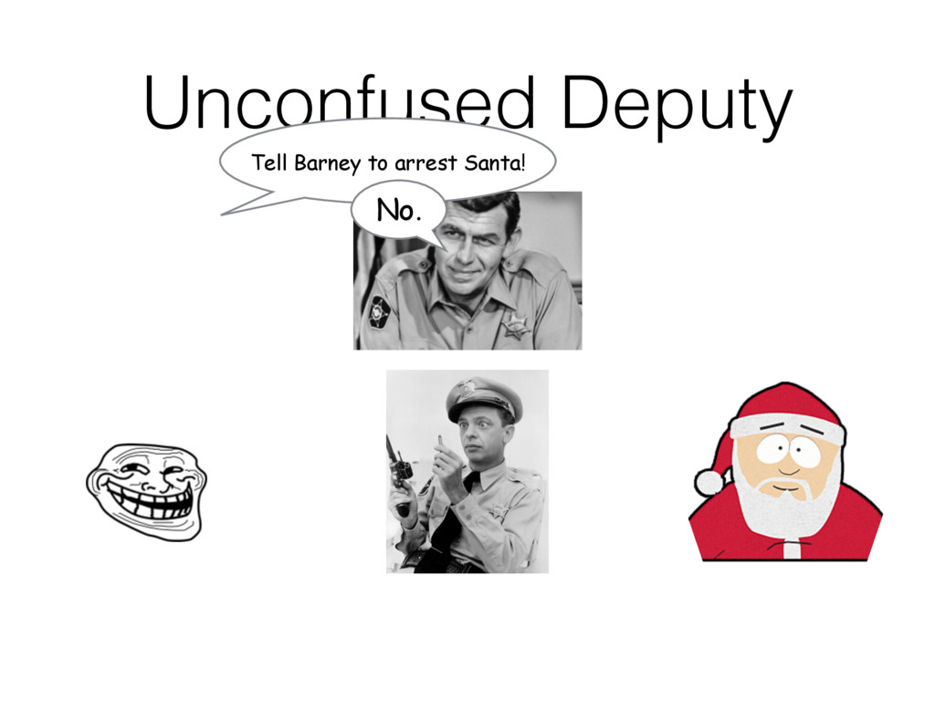 Unconfused Deputy Tell Barney to arrest Santa! ...