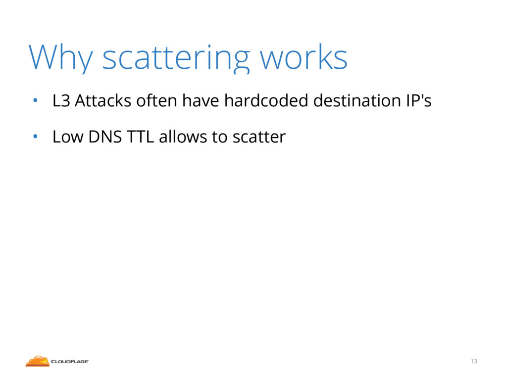 Why scattering works • L3 Attacks often have ha...