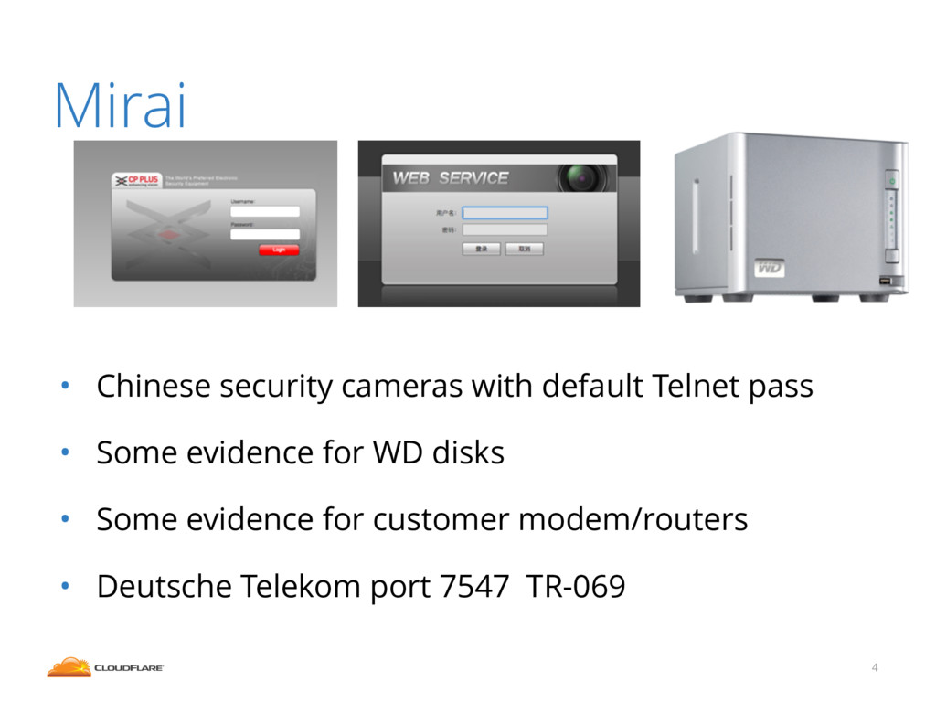 Mirai ! ! ! • Chinese security cameras with def...