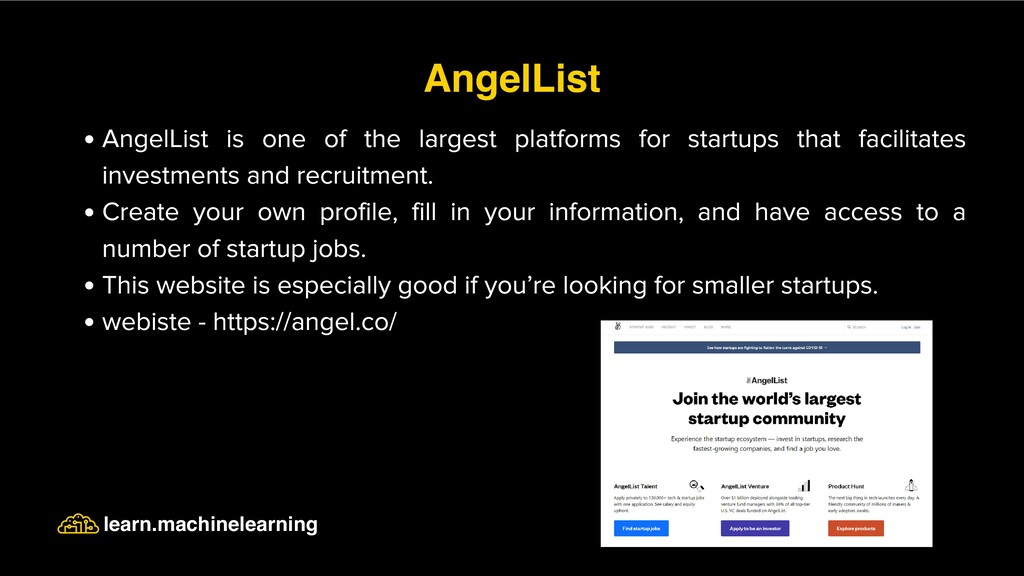 AngelList is one of the largest platforms for s...