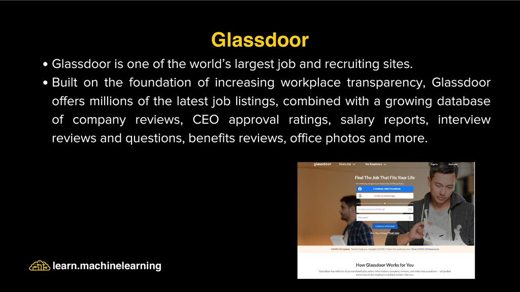 Glassdoor is one of the world's largest job and...