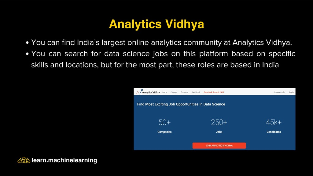 You can find India's largest online analytics c...