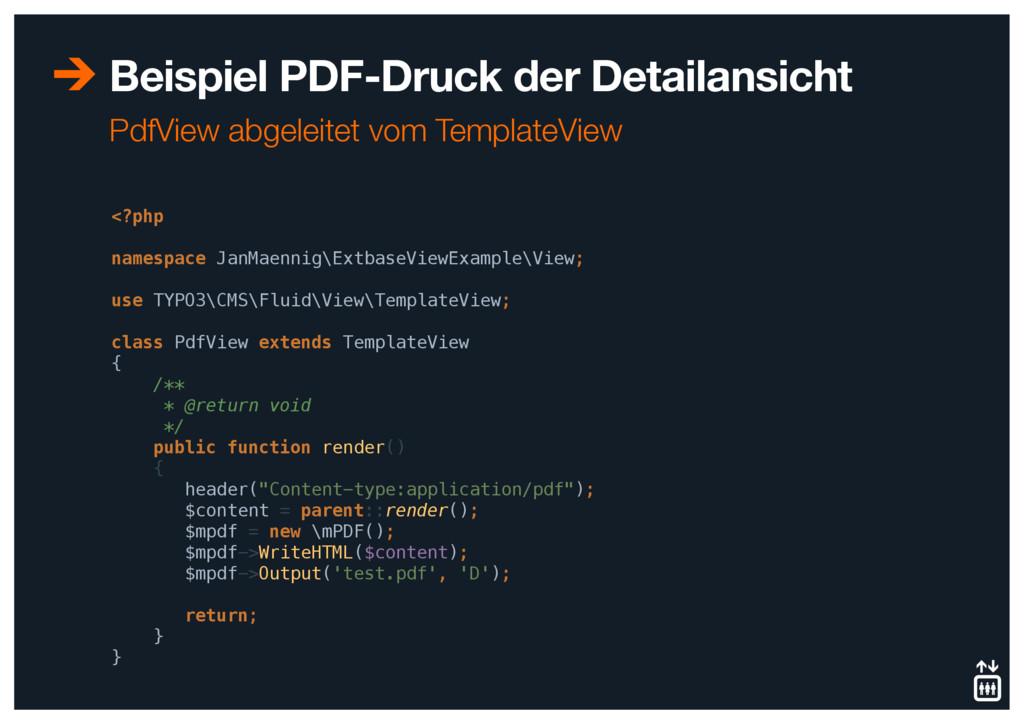 Beispiel PDF-Druck der Detailansicht <?php  n...