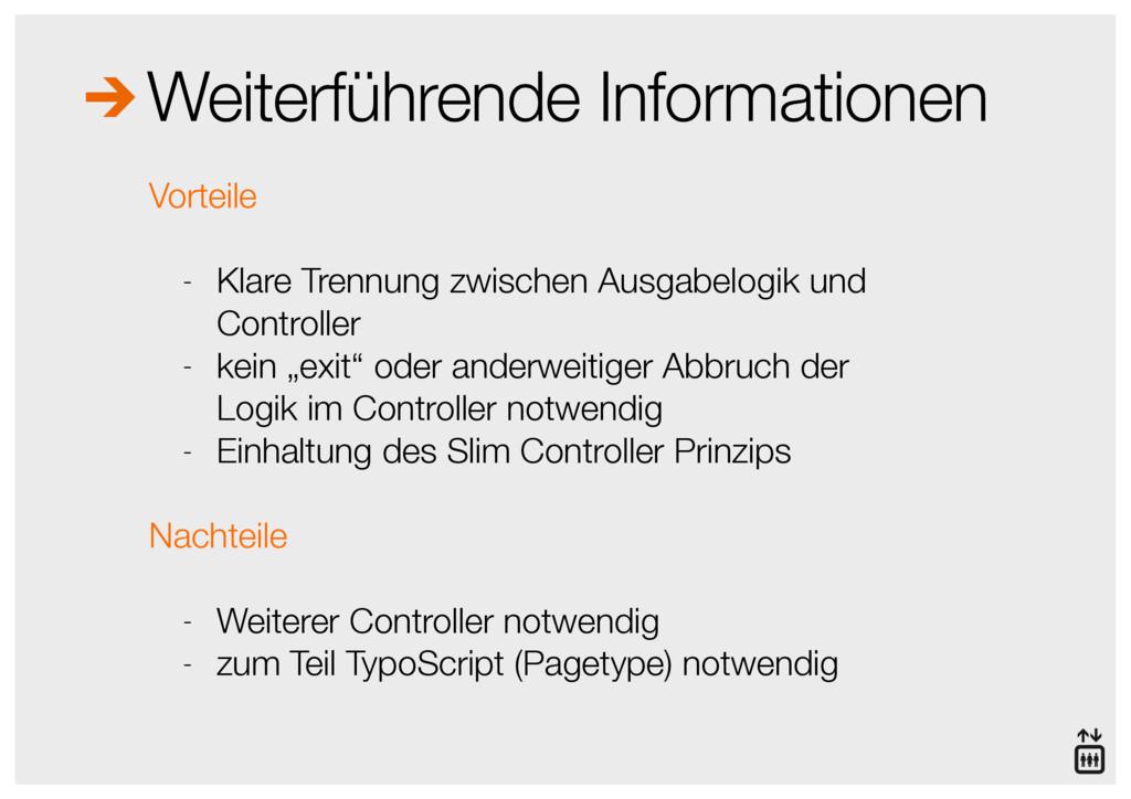 Weiterführende Informationen Vorteile - Klare T...