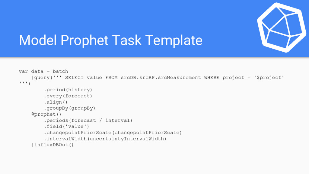 Model Prophet Task Template var data = batch |q...