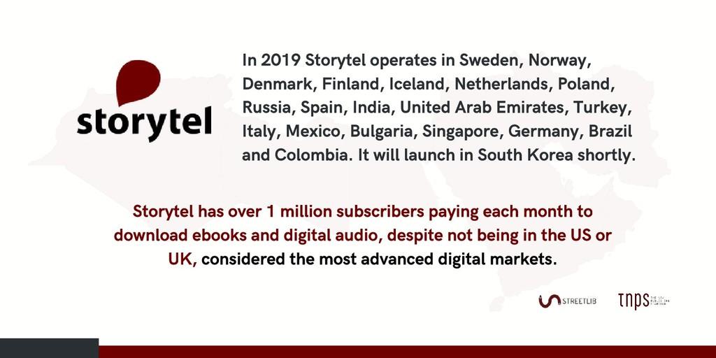 In 2019 Storytel operates in Sweden, Norway, De...