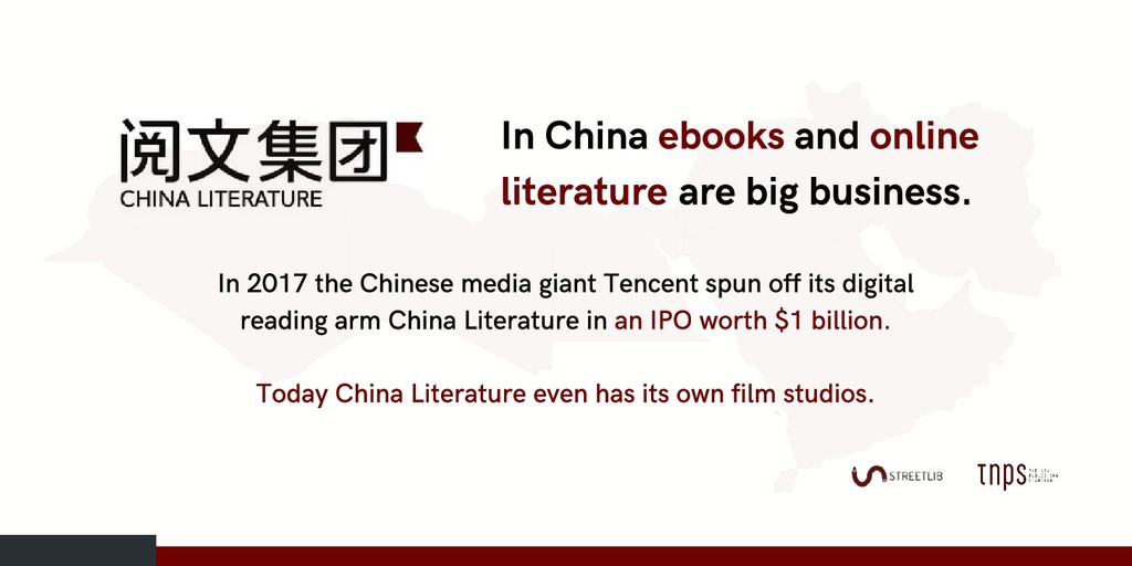 In China ebooks and online literature are big b...