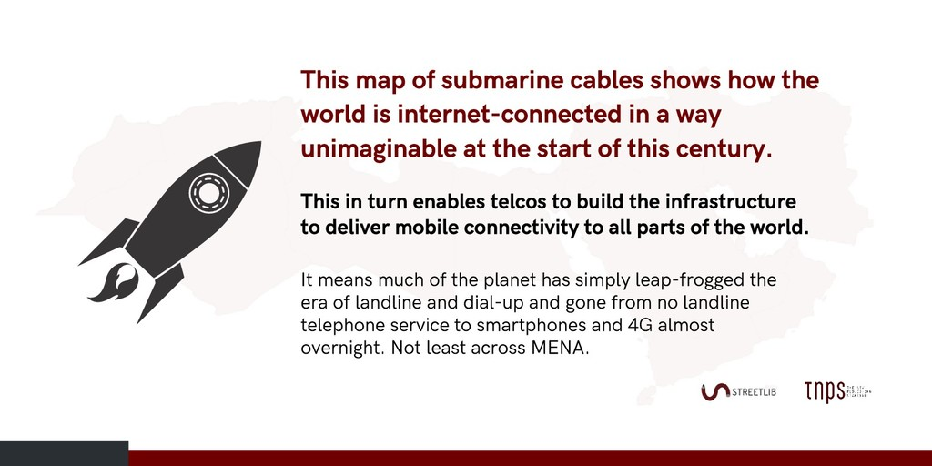 This map of submarine cables shows how the worl...