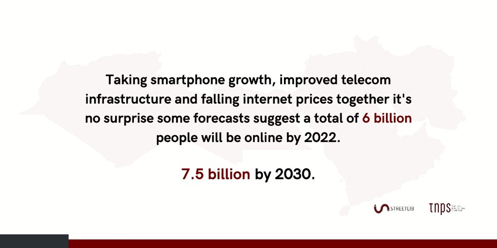 Taking smartphone growth, improved telecom infr...