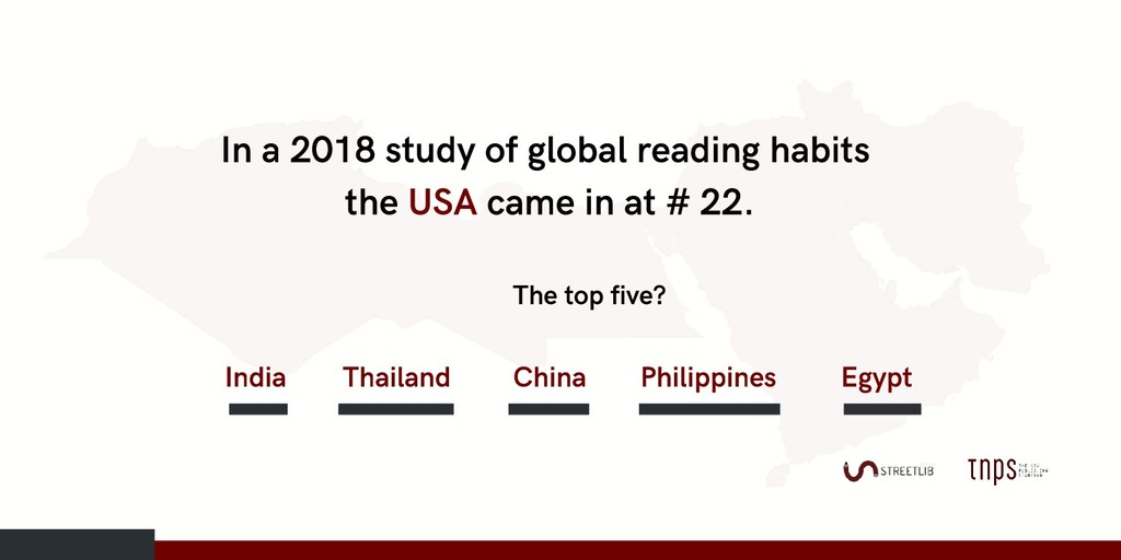 In a 2018 study of global reading habits the US...