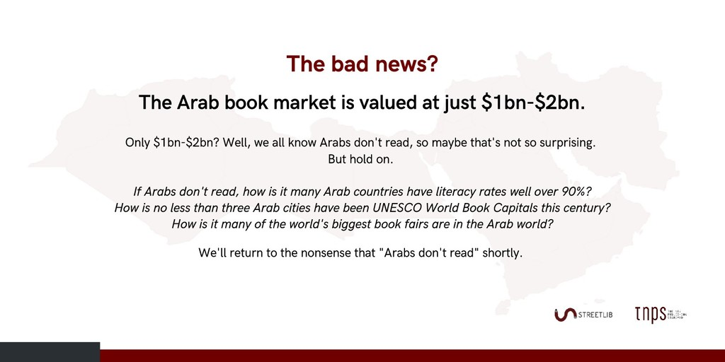 The Arab book market is valued at just $1bn-$2b...