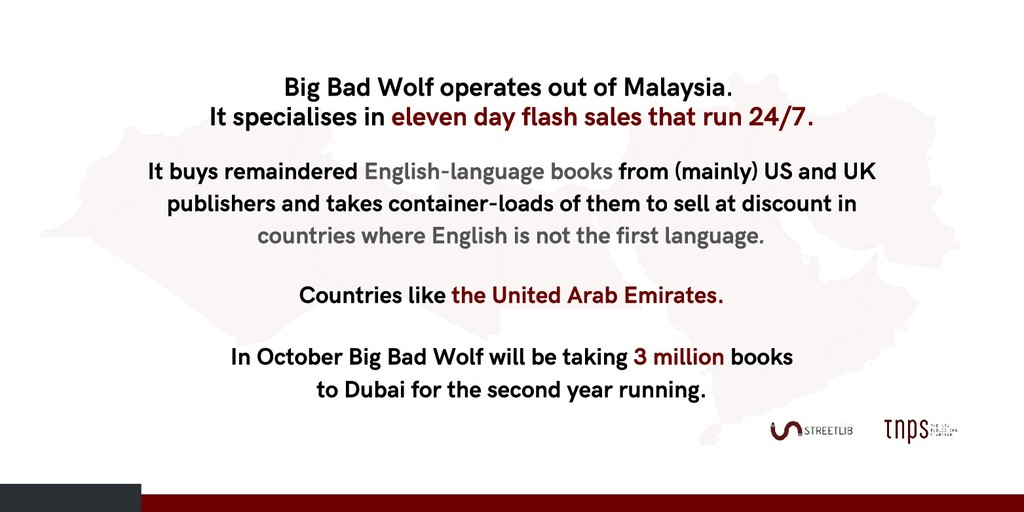 Big Bad Wolf operates out of Malaysia. It speci...