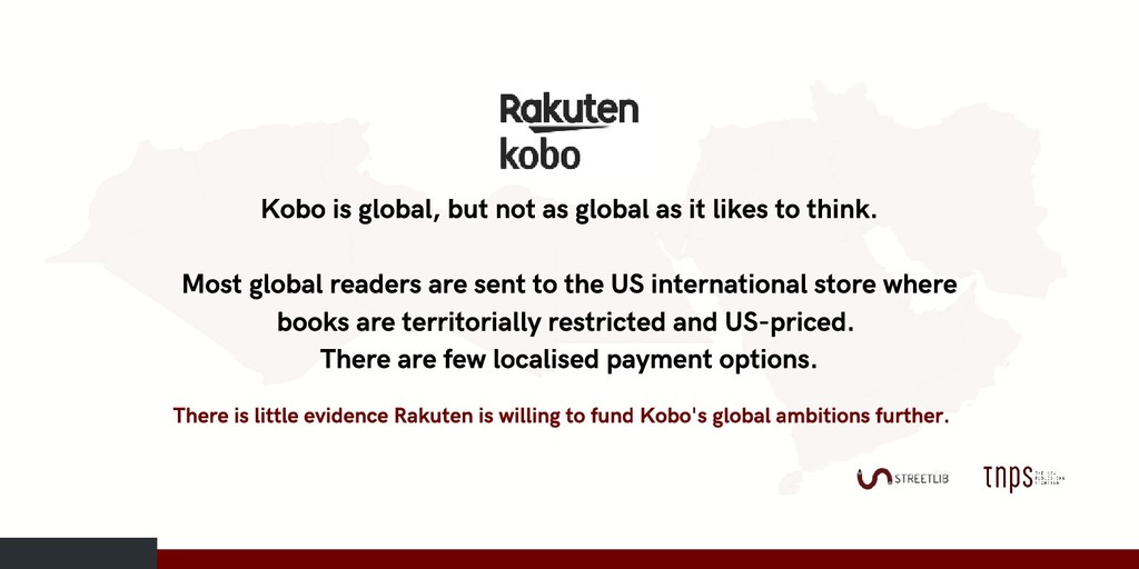 Kobo is global, but not as global as it likes t...