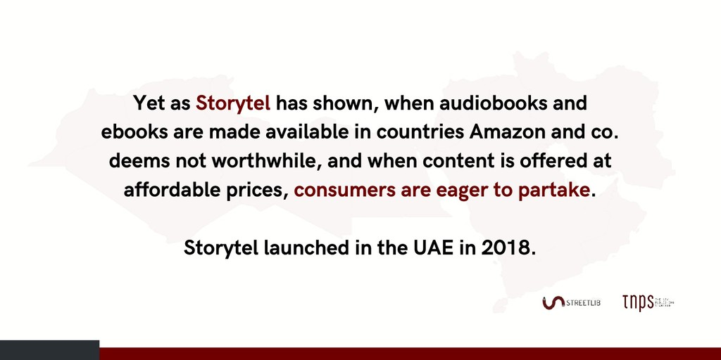 Yet as Storytel has shown, when audiobooks and ...
